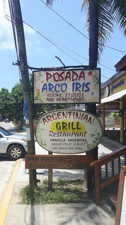 Argentinian Grill: street sign