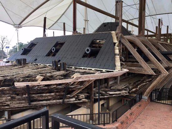 U.S.S. Cairo Museum: The front canons