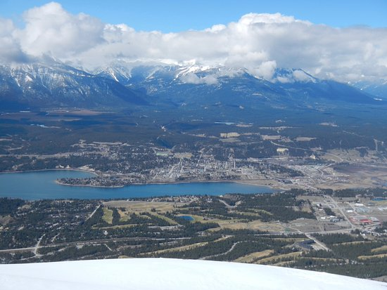 View down to Invermere from summit