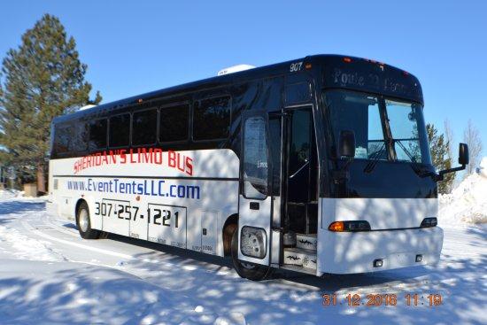 Sheridan, WY: Large comfortable bus.