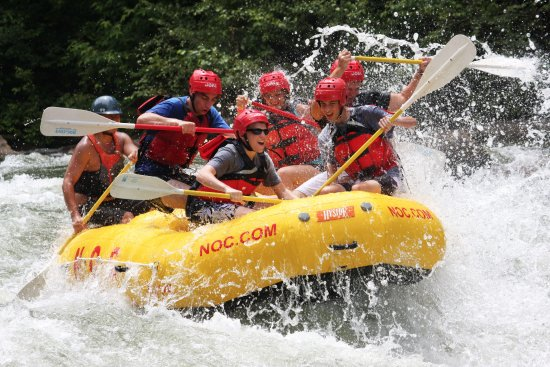 Ocoee rafting with NOC is synonymous with big waves, warm water, and continuous action.