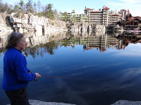 ‪‪Mohonk Mountain House‬: Fishing is great fun - HUGE trout!‬