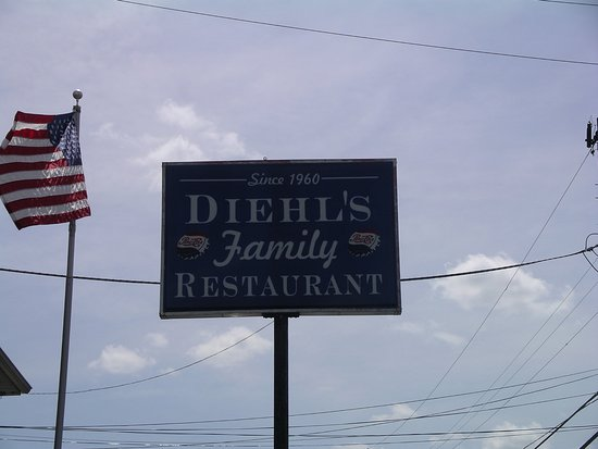 Diehl's Restaurant: The outside sign