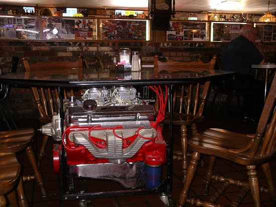 Diehl's Restaurant: The 283 small block Chevy table