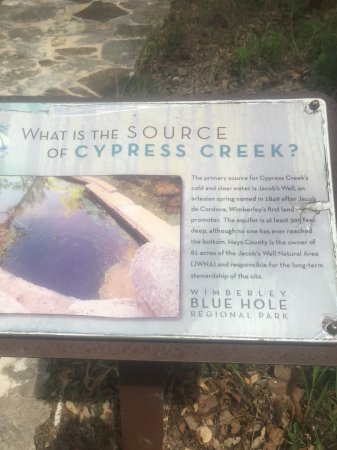 Wimberley, TX: Plaque in the park