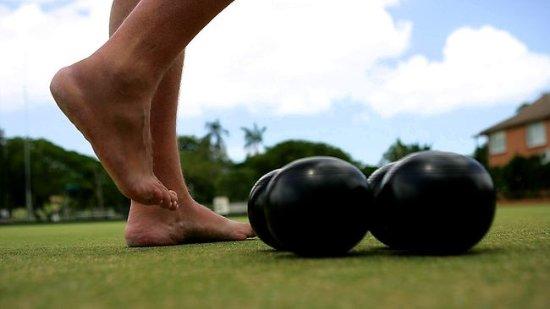 Brisbane, Australia: Barefoot Bowls. Fun for everyone!
