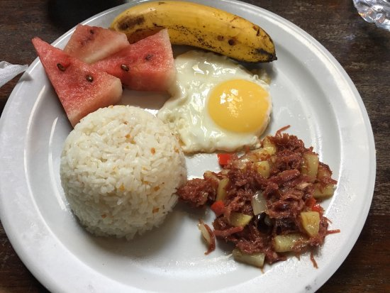 Port Barton, Filippine: Filipino breakfast