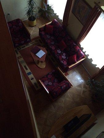 Poprad, Slovakia: looking down from loft