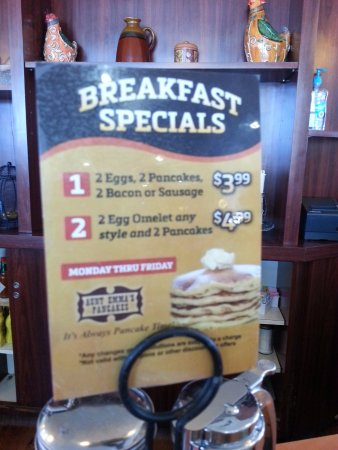 Aunt Emma's Pancakes : The loss leader!