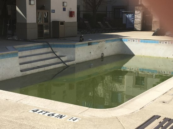 HYATT house Parsippany/Whippany: Poorly maintained outdoor swimming pool