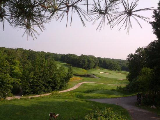 Gananoque, Canadá: The third tee from the Championship tees...what a hole!