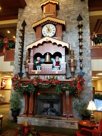 The Inn at Christmas Place: Big clock in the lobby.