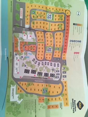 RAC Busselton Holiday Park: Map of the holiday park