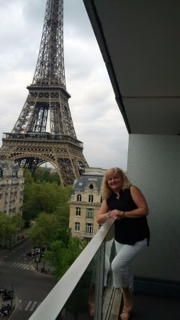 Pullman Paris Tour Eiffel My Wife On The Balcony Of Hotel In