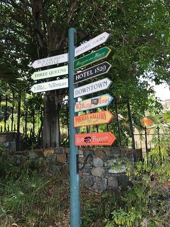 Blackbeard's Castle: Sign along the tour