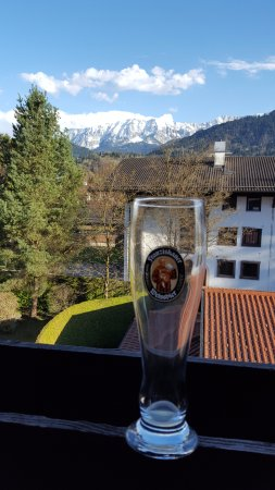 Hotel Zugspitze: View from our room