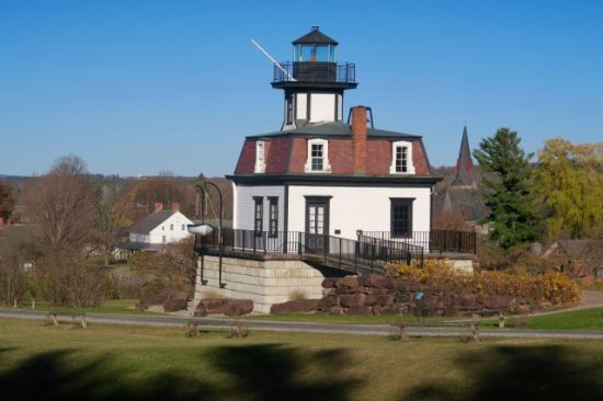 Shelburne, VT: Lighthouse (I believe from Colchester) on grounds at Shelbune Museum - Fall 2016