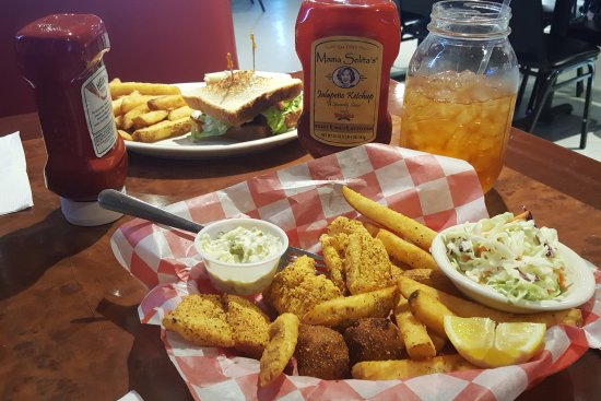 Fort Stockton, TX : Fried Catfish - Got to love Texas