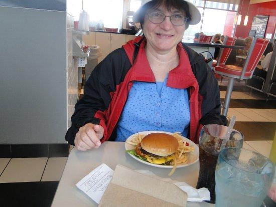 Weaverville, NC: classic burger and coke