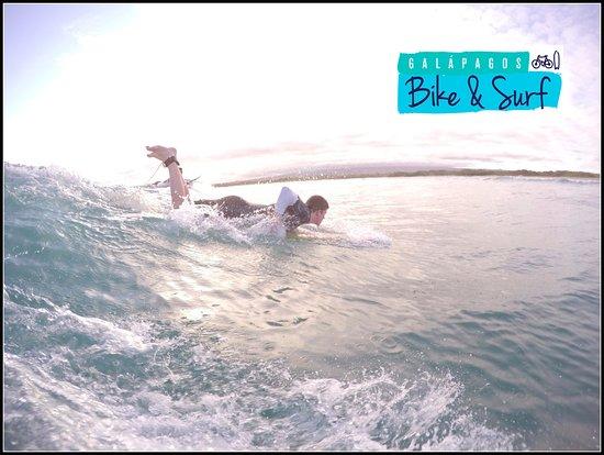 Puerto Villamil, Ekvador: Surf class!