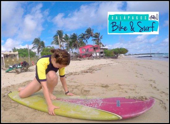 Puerto Villamil, Ecuador: Surf class!