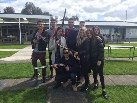 Gold Coast, Australia: Group shot after a Clay Shooting experience with Go Shooting.