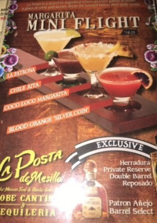 Mesilla, NM: La Posta Mini Margarita Flight