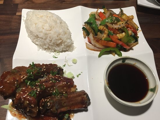 Porterville, Californien: Ribs with veggies