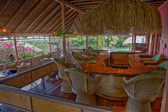 Cockatoo Hill Retreat: Main Lodge, python table !