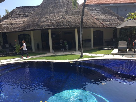 The Villas Bali Hotel & Spa: This is the view inside our private villa with 2 (of 3) bedrooms visible.