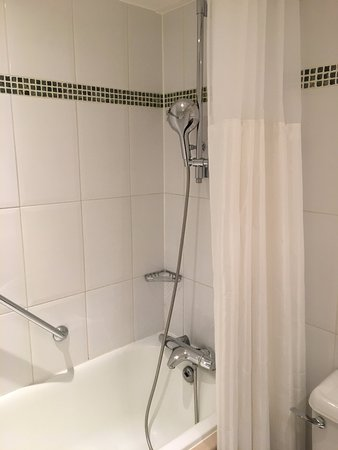 Hilton London Kensington : Bathroom in photo looks a lot newer than it actually is.