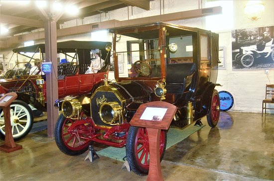 """Boonville, MO: This early """"limousine"""" has the original silk shades on the windows."""