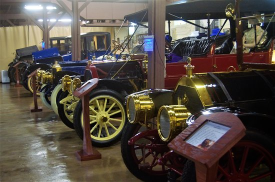 Boonville, MO: Part of the Mitchell car collection in the museum