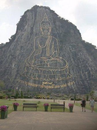 Bang Lamung, Thailand: Золотое изображение Будды