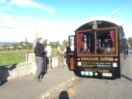 Napier, New Zealand: Sightseeing train