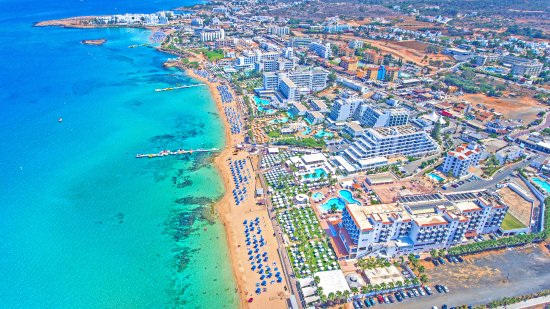 Constantinos the Great Beach Hotel: Aerial view of the hotel
