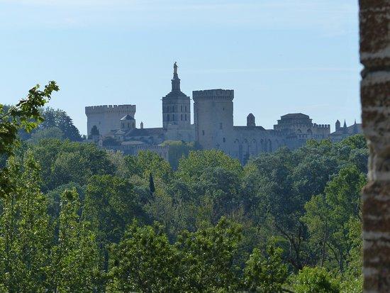 Villeneuve-les-Avignon, Francja: Block auf Avignon nicht vom Tour Philippe le Bel aus, aber von neben dem Turm aus