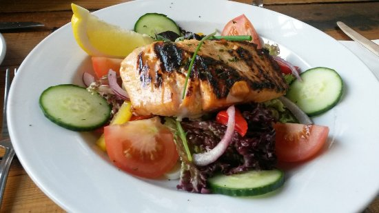New Brighton, UK: A simple grilled salmon salad for dieters.