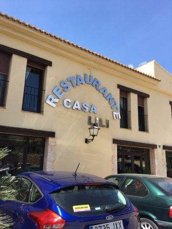 Teulada, Spanien: вход в ресторан