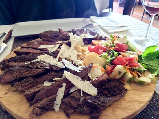 Xemxija, Malta: 1k  beef grilled and topped with greek cheese shavinga