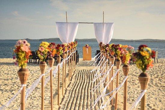 Pulau Joyo: Wedding set up before the guests arrived.