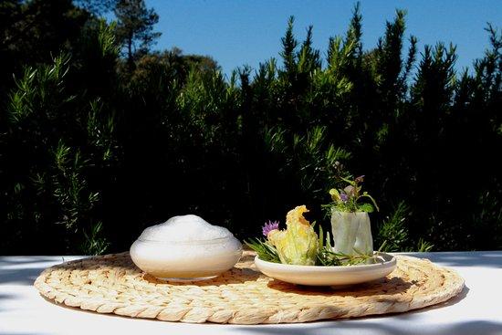 Restaurant Sant Pere del Bosc:  Garden Snack Menú 3 / 2017
