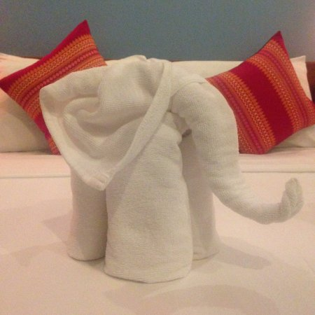Little towel elephant waiting for us <3