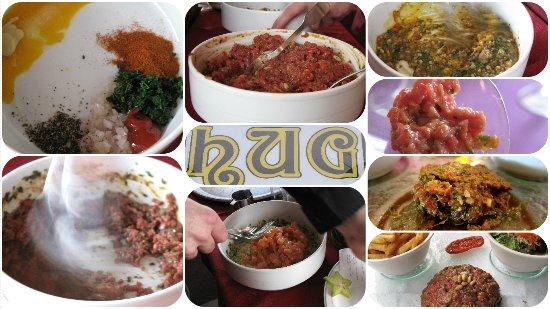 Restaurant Tea Room Hug: Notre grande spécialité, le tartare à votre goût, préparé devant vous.