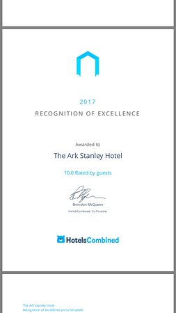 Stanley, Austrália: Hotels Combined 2017 Recognition of Excellence Award