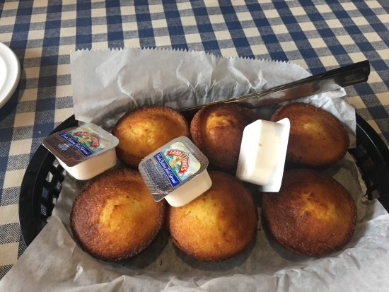 Marks Feed Store: Sweet corn muffins.