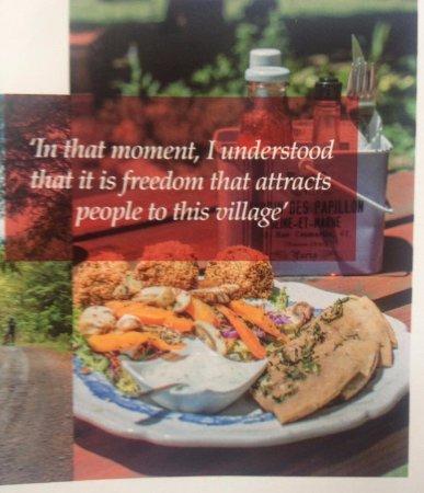 Hogsback, Sudáfrica: Falafal salad