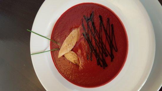 Higuera de la Sierra, Spania: Gazpacho de remolacha ( sin gluten )