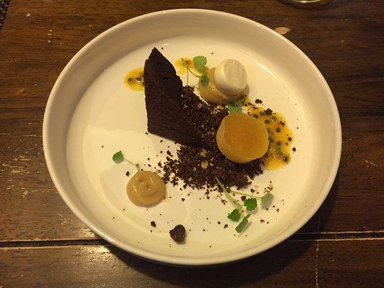 Landgraaf, The Netherlands: Brownie als desert