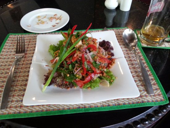 King Grand Suites Boutique Hotel II: Delicious Khmer beef salad